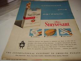 ANCIENNE PUBLICITE CIGARETTES PETER STUYVESANT 1961 - Tabac (objets Liés)