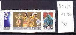 TIMBRE. .....................TONGA 533/535 - Tonga (1970-...)