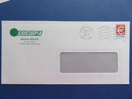 PAP - Enveloppe Symbole Euro - Repiquage Ets SOCOPA St Affrique (12) - Flamme Muette 17.04.01 - Entiers Postaux