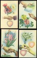 Beau Lot De 16 Cartes Postales De Fantaisie Mains  Main      Mooi Lot Van 16 Postkaarten Fantasie  Handen  Hand - Cartes Postales