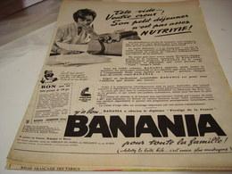 ANCIENNE PUBLICITE TETE VIDE VENTRE CREUX BANANIA  1961 - Posters