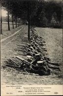 Cp Troupes Belges Dans Les Tranchées à Lierre, Soldaten, Maschinengewehr, I. WK - Militaria