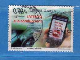 (1Us) )  SPAGNA °- 2012 - VALORI CIVICI . UNIF. 4403.  Vedi Descrizione. - 2011-... Usati