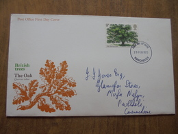 S043: FDC: BRITISH TREES - The Oak - Quercus Robur. 9p FIRST DAY OF ISSUE 28 FEB 1973 Manchester. - FDC