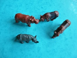 4 Figurines Animal Animaux Jungle  (article 26) - Figurines