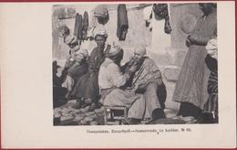 Uzbekistan Le Barbier Bradobrei Hair Cutter Ouzbékistan Samarkand Samarkande Rare Old Postcard Russian Turkestan Russia - Ouzbékistan