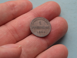 1864 - 1 Pfenning - Scheidemünze / KM .... ( Uncleaned Coin / For Grade, Please See Photo ) !! - [ 1] …-1871 : Etats Allemands