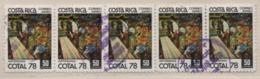 Costa Rica 1978 MiNr.: 987 Cotal Gestempelt 5er Streifen; Scott: C706 Used - Costa Rica