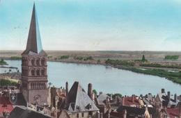 CPSM LA CHARITE SUR LOIRE VUE GENERALE CLOCHER SAINTE CROIX LA LOIRE - La Charité Sur Loire