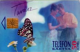 TARJETA TELEFONICA DE HUNGRIA. SPRING -BUTTERFLY. HU-P-1995-13A. (201) - Hungría