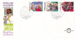 Nederland - FDC - Kinderzegels, Buitenspelen - Poppen/robots/fietsen/verstoppertje - NVPH E288 - Kindertijd & Jeugd