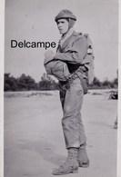 CP Photo :  Parachutiste - 3ème Saut - 1946 - Guerre, Militaire