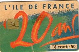 N°01 / TÉLÉCARTE 1996 L' ILE DE FRANCE 20 ANS   / 50U - VOIR DOS - Francia
