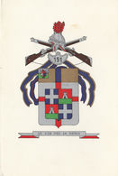 3) 151° REGGIMENTO FANTERIA SASSARI CARTONCINO AUGURALE 11,5 X 17 Cm - Militari