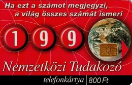 TARJETA TELEFONICA DE HUNGRIA. 199, TUDAKOZÓ. OFICINA DE CONSULTAS. HU-P-2000-29. (183) - Hungría