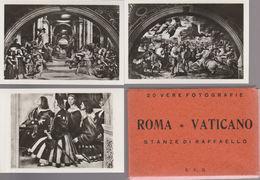 5) ROMA AFFRESCHI DI RAFFAELLO STANZE 20 PICCOLE FOTO 9,5 X 6,5 Cm - Riproduzioni