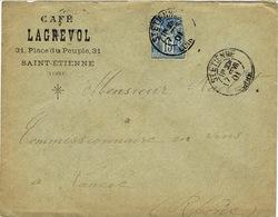 ENVELOPPE A EN-TETE CAFE LAGREVOL SAINT ETIENNE - Marcophilie (Lettres)