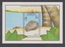 Dominique BF N° 166 XX 500 ème Ann. De La Découverte De L'Amérique, Le Bloc Sans Charnière, TB - Dominique (1978-...)
