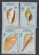 Dominique  N° 1215 / 18  XX Faune : Coquillages, Les 4 Valeurs Sans  Charnière, TB - Dominique (1978-...)