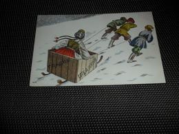 Illustrateur  Pas Signée  Genre Viennoise   S.P.  Type Russe   Traîneau  Slede  Slee  Luge - Illustrateurs & Photographes