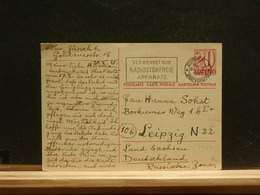 81/434  CP  SUISSE  POUR ALLEMAGNE  1947 - Interi Postali