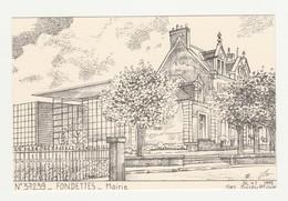Fondettes.37.Indre Et Loire.Mairie.Yves Ducourtioux.1995 - Fondettes