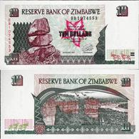 Zimbabwe 1997 - 10 Dollars Pick 6 UNC - Zimbabwe