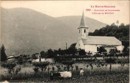 COMMUNE DE SAUVETERRE ,EGLISE DE BOUCOU,ATTELAGE DE BOEUFS AU TRAVAIL  REF 57645 - Francia