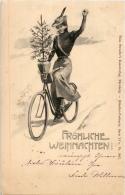 Weihnachten - Frau Auf Fahrrad - Weihnachten