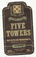 étiquette De Whisky , Fine Old , FIVE POWERS, Blended Scotch Whisky - Whisky
