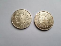LOT DE 2 PIECES DE 10 Francs Argent 1967 ET 1970 HERCULE - K. 10 Franchi