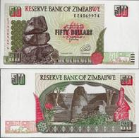 Zimbabwe 1994 - 50 Dollars Pick 8 UNC - Zimbabwe
