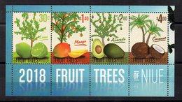 NIUE - FRUIT TREES - ARBRES FRUITIERS - 2018 - B/F - M/S - - Niue
