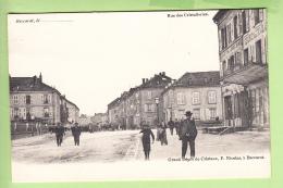 BACCARAT - Rue Des Cristalleries  - Beau Plan Animé - Dos Simple - Ed. Nicolas -  2 Scans - Baccarat