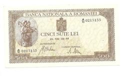 """Roumanie Romania Rumänien 500 Lei """" 22 - 07 - 1941 """" AUNC/UNC # 2 - Roumanie"""