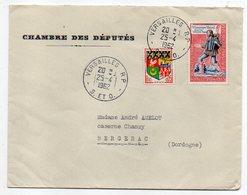 """1962--lettre De VERSAILLES RP Pour BERGERAC-24 --Beau Cachet,timbres--personnalisée""""Chambre Des Députés"""" - Marcophilie (Lettres)"""