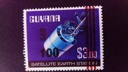 Guyana 1981 Science Espace Space Satellite Surchargé Overprint 100 OPS Yvert S21 ** MNH - Guyana (1966-...)