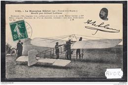 1455 AV02 CPA CP AK LE MONOPLAN BLERIOT MONTE PAR ALFRED LEBLANC TTB TTB - Aviatori