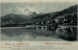 Gruss Aus Dem Elbethal - Tichlowitz Mit Dem Sperlingsstein - Tschechische Republik