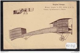 1462 AV06 CPA CP AK TRIPLAN GOUPY TTB NON CIRCULER - Aviatori