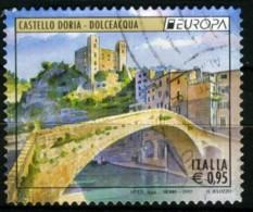 ITALIA 2017 Castello Doria Dolceacqua  Fiat Nuova 500  Francobolli Usati - 2011-...: Usati