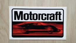 Aufkleber Mit Werbung Eines Autoteile-Anbieters (Motorcraft) - Aufkleber