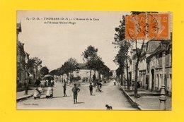 CPA - THOUARS (79) - Aspect Du Carrefour Avenue De La Gare Et Avenue Victor-Hugo - Thouars