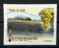 ITALIA 2014  Selezione Di 11 Francobolli Usati Su Frammento - 6. 1946-.. Repubblica
