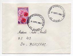 """1967--Lettre De VICHY-03- Pour BERGERAC-24--timbre Floralies +Beau Cachet Provisoire""""Championnat D'Europe D'Aviron """" - Marcophilie (Lettres)"""
