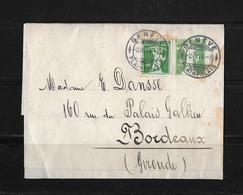 STREIFBAND 1914 → Genève / Genf Nach Bordeaux FR   ►Zusatzfrankatur SBK-125 Type 3◄ - Entiers Postaux
