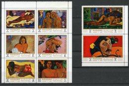 Manama, 1971, Gauguin Paintings, MNH, Michel 875-882A - Manama