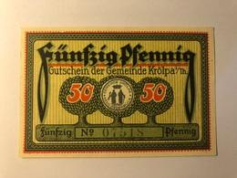 Allemagne Notgeld Krolpa 50 Pfennig - [ 3] 1918-1933 : République De Weimar