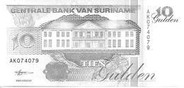 Suriman  P-137b  10 Gulden  1998 UNC - Surinam