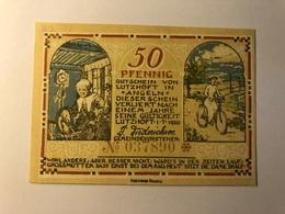 Allemagne Notgeld Lutzhof 50 Pfennig - [ 3] 1918-1933 : Weimar Republic